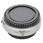 Auto Focus Olympus Micro 4/3 Lens to 4/3 Camera Lens Adapter- Silver + Black