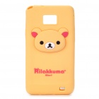 Cartoon Bear Style Protective Silicone Back Case for Samsung Galaxy S2 i9100 - Yellow