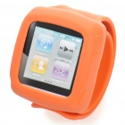 Silicone Wrist Band Sport Armband for iPod Nano - Orange (27.5cm)