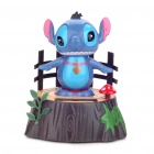 Solar Powered Stich Bild Q Version Kopfschütteln Desktop Display Toy - Blue