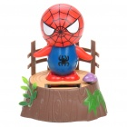 Cute Spider Man Solar Powered Shaking and Swaying Desktop Toy - Blue + Red