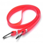 Multi-Purpose Bicycle Carrier Rubber Luggage Strap Cord Rope Cable with Clip - Random Color (112cm)