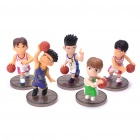 Slam Dunk PVC Figure Toys with Display Base (Set of 5)