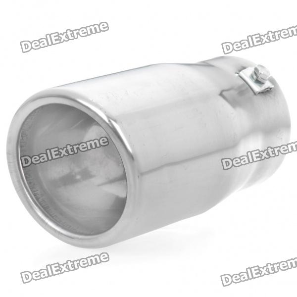 Stylish Stainless Steel Protective Car Exhaust Pipe Muffler - Silver new safurance 200w 12v loud speaker car horn siren warning alarm stainless steel home security safety