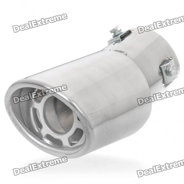 Stylish Stainless Steel Car Exhaust Pipe Muffler Tip for Buick-GL8/Harvard H3/H5 - Silver stainless steel tuned pipe exhaust for zenoah rcmk sikk rc boat 23 30cc 380mm