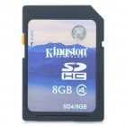 Genuine Kingston SDHC Flash Memory Card - 8GB (Class 4)