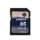 Genuine Kingston SDHC Flash Memory Card - 4GB (Class 4)