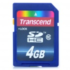 Genuine Transcend SDHC SD 3.0 Flash Memory Card - 4GB (Class 10)