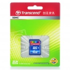 Genuine Transcend SDHC SD Flash Memory Card - 4GB (Class 6)