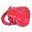 Heart Shaped Cosmetic Container Style Telephone - Red