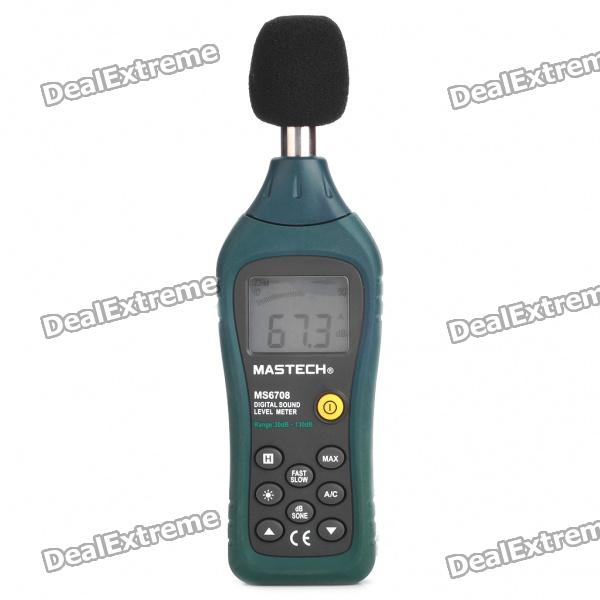 MS6708 1.7 LCD Digital Sound Level Meter (4 x AAA) mastech ms6700 lcd display digital sound level meter 30 130db
