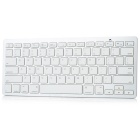 Schlanke 78-Key Bluetooth Wireless Keyboard - weiß (2 x AAA)