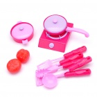 Children Favorite Kitchen Cooking Set Toy - Red + Pink