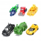 Transformable Tank + Car Assembly Toys Set - Random Color (6-Piece)