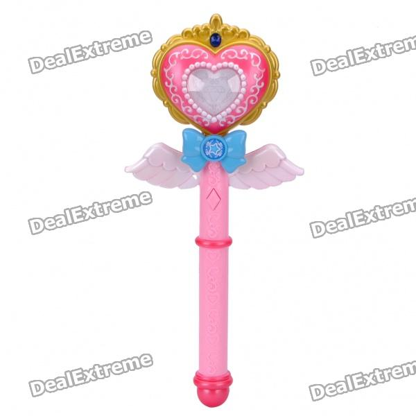 buy cute light sound effects princess magic wand toys set for kids pink. Black Bedroom Furniture Sets. Home Design Ideas