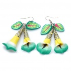 Stylish Morning Glory Polymer Clay Earrings (Random Color / Pair)