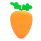 Small Carrot Style Silicone Case Box for Keys - Orange + Green