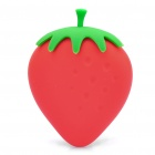 Small Strawberry Style Silicone Case Box for Keys - Red + Green
