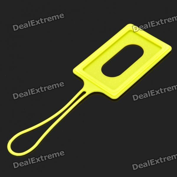 Small Silicone Card Cover Case with Strap - Yellow