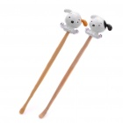 Cute Puppy Bamboo Earpicks (пара)
