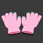 Capacitive Screen Touching Hand Warmer Gloves - Pink (Pair)