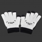 Capacitive Screen Touching Hand Warmer Gloves - White (Pair)