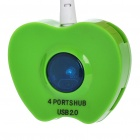 Apple Shaped USB 2.0 4-Port HUB - Green
