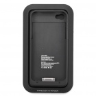 Magnetic Field Charger + Replacement Protective Battery Back Cover for iPhone 4/4S - Black