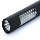 24+1 LED 2-Mode White Light Flashlight with Strap (4 x AAA)