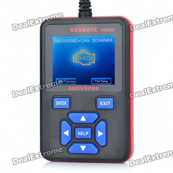 "OBDMATE OM580 2.7"" LCD OBDII Car Diagnostic Scan Tool"