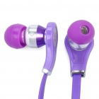 Designer's Cool In-Ear Stereo Earphone - Purple (3.5mm Jack/100cm - Cable)