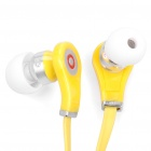 Designer's Cool In-Ear Stereo Earphone - Yellow (3.5mm Jack/100cm - Cable)