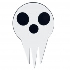 Soul Eater Prop Style Plastic Brooch Pin - White + Black