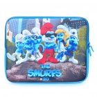 "Smurfs Style Soft Bag with Dual-Zipped Close for 12"" Laptop Notebook - Blue + Green + Red"