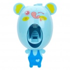 Cute Elephant Cartoon Style Automatic Toothpaste Squeezer with Suction Cup - Blue