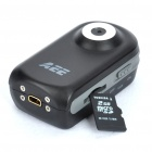 Global Smallest 2 MP CMOS Hands-free Mini DV Video Camera with USB/TF Slots - Black