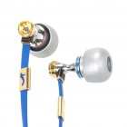 Designer Stereo In-Ear-Ohrhörer w / Mikrofon / Volume Control für iPhone / iPad / iPod - Blue