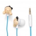Designer's Cute Girl In-Ear Stereo Earphone w/ Carrying Bag / Carabiner (3.5mm Jack / 120cm-Cable)