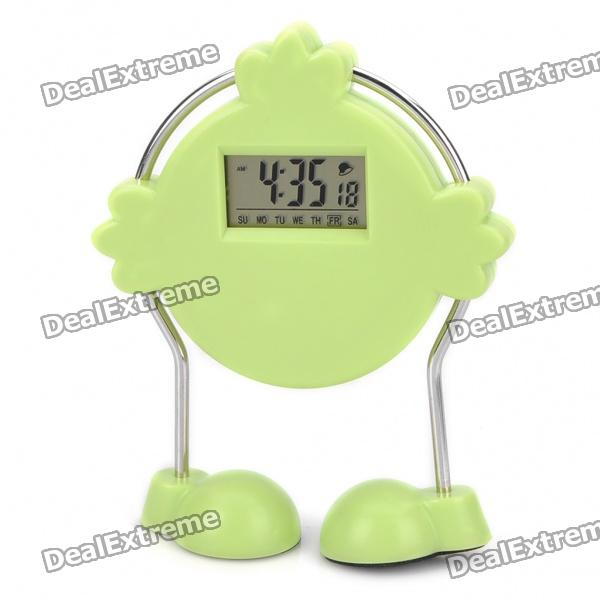"1.2"" LCD Cute Robot Shaped Alarm Clock (1 x AG13)"