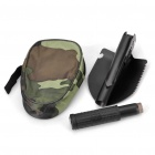 Outdoor Metal Folding Shovel with Pouch and Compass - Black