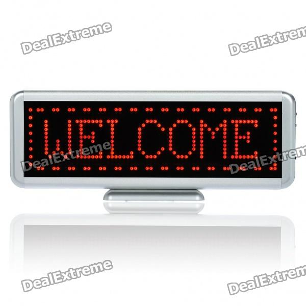 Programmierbare LED Scrolling Name / Nachricht / Advertising Tag Abzeichen - Red Light
