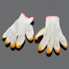 PVC Coated Labor Gloves - White + Yellow (Pair)