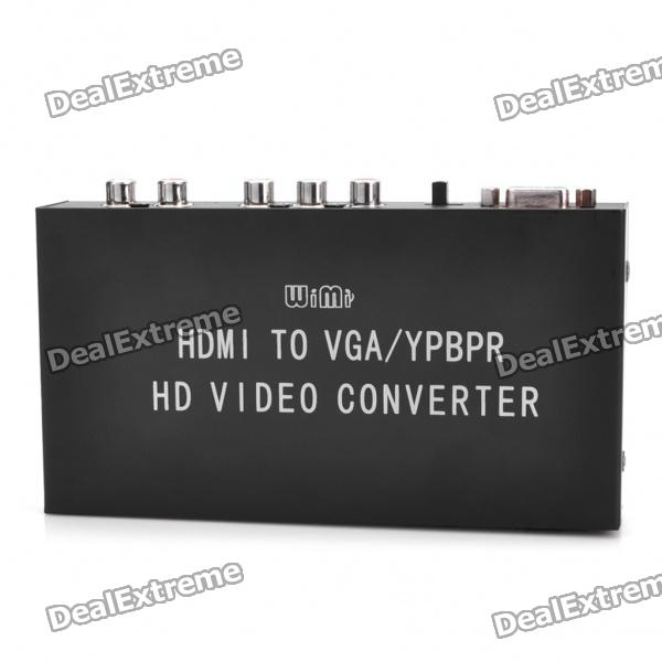 HDMI to VGA + YPBPR + R/L AUDIO Converter - Black