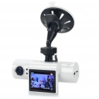 "IPU TQ703 HD 720P 2.0"" TFT 5.0MP Car Vehicle DVR Camcorder with TF / 2-IR LED (White)"