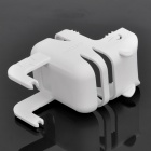 Stylish Power Adapter Protective Case + Cable Winder + Holder for Iphone 4S - White