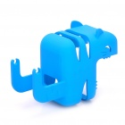 Stylish Power Adapter Protective Case + Cable Winder + Holder for Iphone 4S - Blue