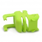 Stylish Power Adapter Protective Case + Cable Winder + Holder for Iphone 4S - Green