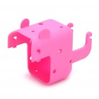 Stylish Power Adapter Protective Case + Cable Winder + Holder for Iphone 4S - Pink
