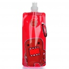 Vapur Portable Folding Water Bottle with Carabiner Clip - Deep Red (16 oz)