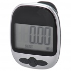 "1.8"" LCD Clip-on Pedometer with Body Calorie Calculation - Silver + Grey (1 x AG13)"